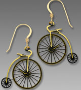High Wheel Painted Earrings sb