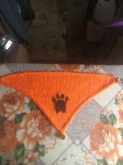 banjos bandana orange and brown